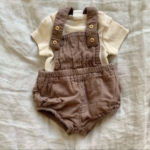 Baby overalls/ lederhosen set
